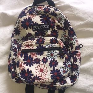 Small Jansport Corduroy Backpack